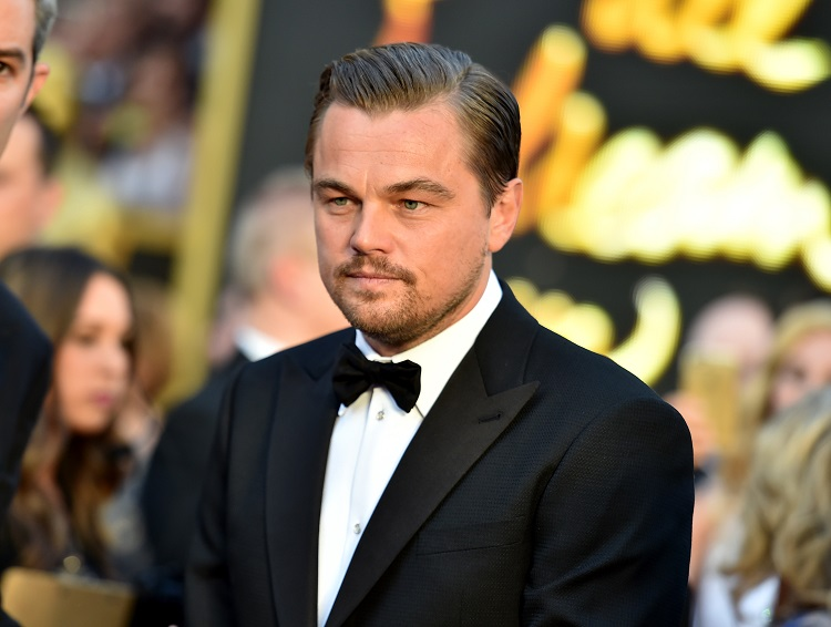 Leonardo DiCaprio arrives at the Oscars on Sunday, Feb. 28, 2016, at the Dolby Theatre in Los Angeles. (Photo by Richard Shotwell/Invision/AP)