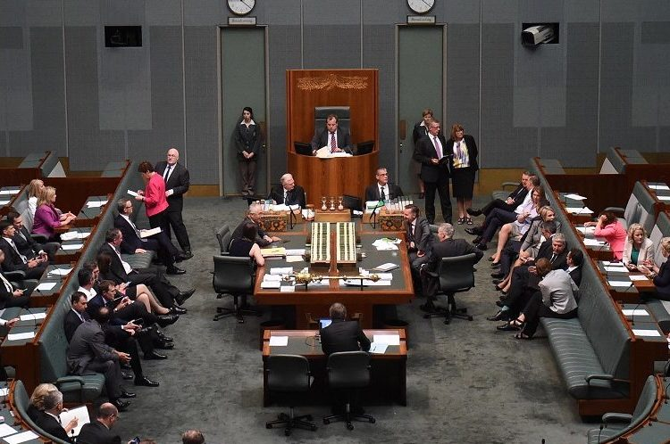The Australian Building And Construction Commission (ABCC) Bill being passed in the House of Representatives at Parliament House in Canberra on Thursday, Feb. 4, 2016. (AAP Image/Mick Tsikas) NO ARCHIVING